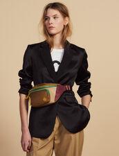 Matching Satin Tailored Jacket : Coats & Jackets color Black