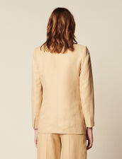 Tailored Jacket With Button Fastening : Jackets color Beige