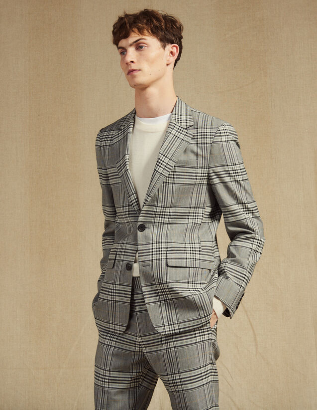 Classic Suit Jacket : Suits & Blazers color Grey