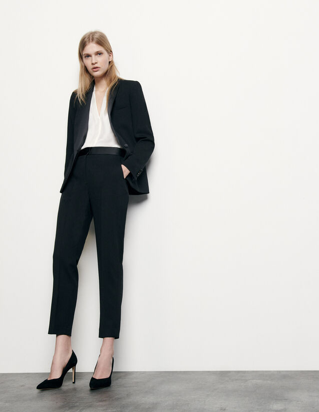 Pants with satin inset : Spring Pre-Collection color Black