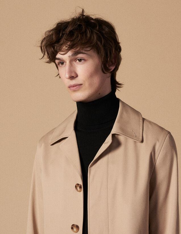 Cotton Raincoat : Coats & Jackets color Beige