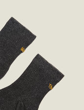 Lurex Embroidered Socks : Other Accessories color Black