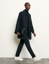 Town coat : Spring Pre-Collection color Navy Blue