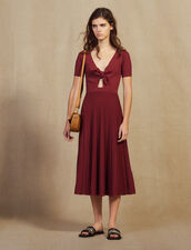 Openwork Knit Midi Dress : Dresses color Land of Fire
