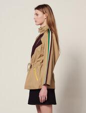 Windbreaker Coat : Coats & Jackets color Beige