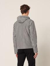 Gingham Jacket : Jackets color Black