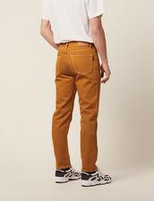 Cotton Canvas Pants : Pants & Jeans color Ochre