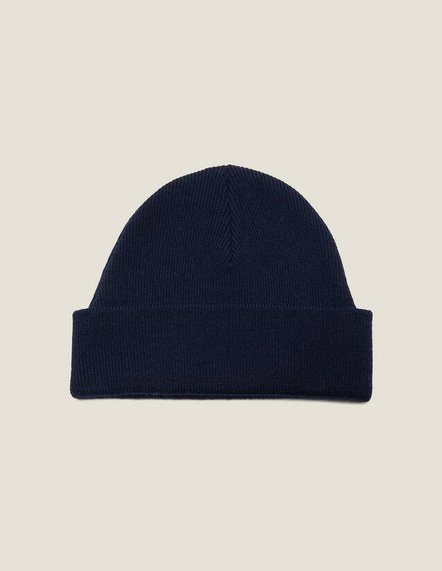 Wool Blend Beanie : Hats color Black