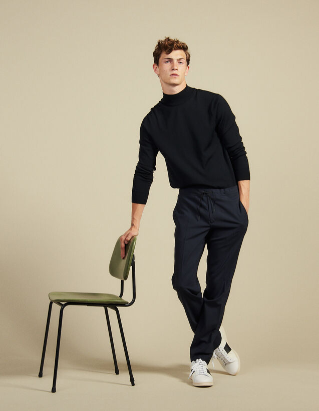 Smart Drawstring Waist Pants : Pants & Shorts color Black