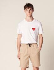 Drawstring Waist Bermuda Shorts : Pants & Jeans color Beige