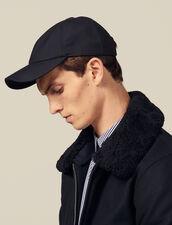 Wool Blend Cap : Hats color Navy Blue
