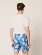Printed Swim Shorts : Pants & Jeans color Black