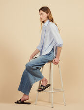 Poplin Shirt With High Cuffs : Tops & Shirts color white