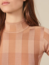 Short-Sleeved Funnel Neck Sweater : Sweaters color Nude