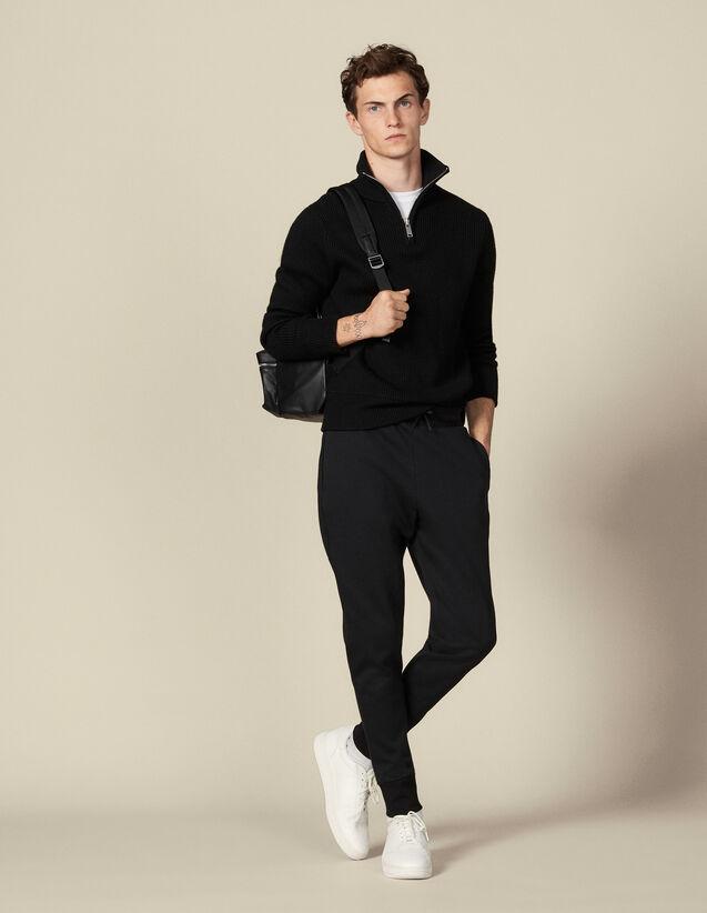 Technical fabric jogging bottoms : Pants color Black
