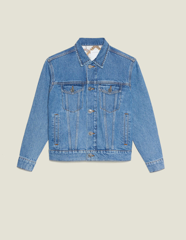 Masculine Fit Denim Jacket : Jackets color Blue Vintage - Denim
