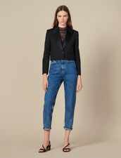 Cropped Blazer : Jackets color Black