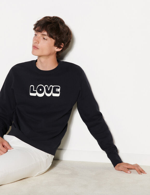 Sandro Sweatshirt with embroidered lettering