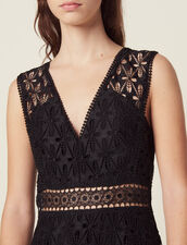 English guipure lace midi dress : Dresses color Black