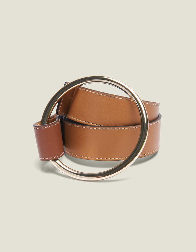Belt With Ring Fastening : Belts color Camel