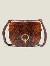Pépita Bag : Bags color PYTHON CAMEL