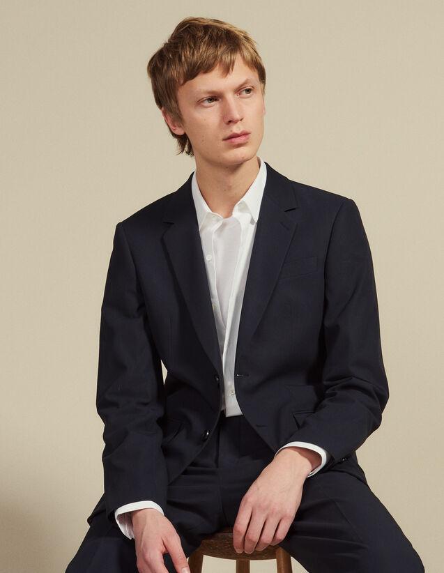 Cotton Suit Jacket : Suits & Blazers color Ink