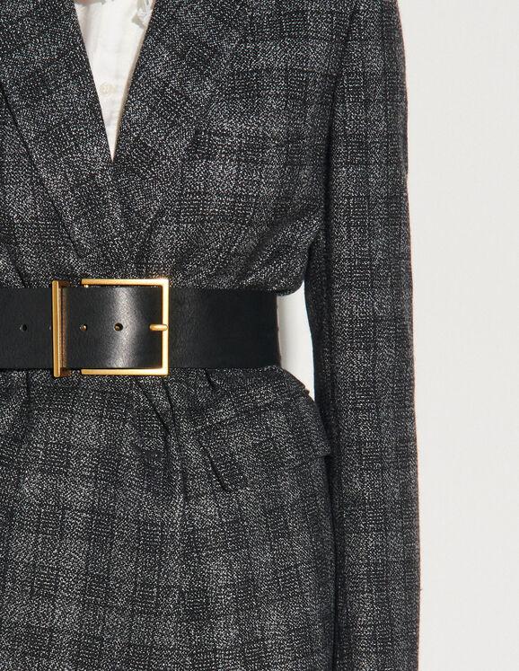 Sandro Wide leather belt