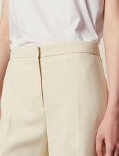 Tailored Pants : Pants & Shorts color Ecru