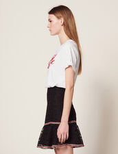Short Skirt With Ruffles : Skirts color Black