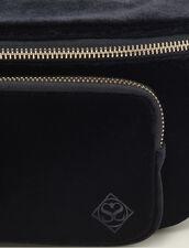 Velvet Fanny Pack : Bags color Black