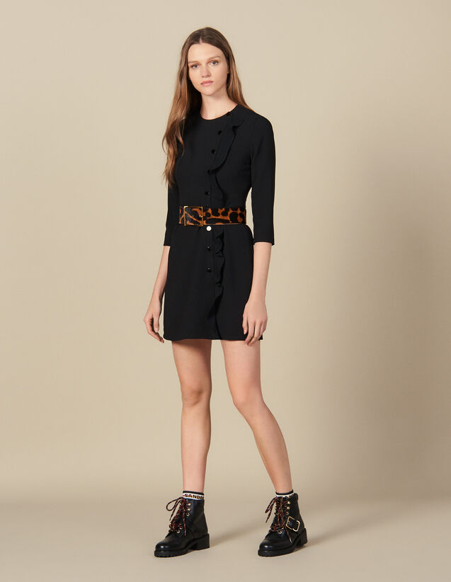 Short wrap around dress : Dresses color Black