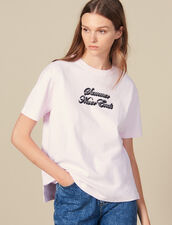 T-Shirt With Lettering : Tops & Shirts color Pink