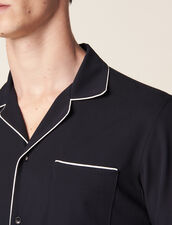 Asymmetrical Pajama-Style Shirt : Shirts color Navy Blue