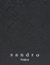 Saffiano leather wallet with flap : Leather Goods color Black