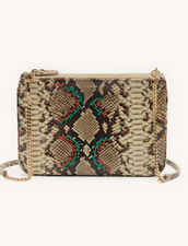 Python embossed leather pouch : Spring Pre-Collection color Multi-Color