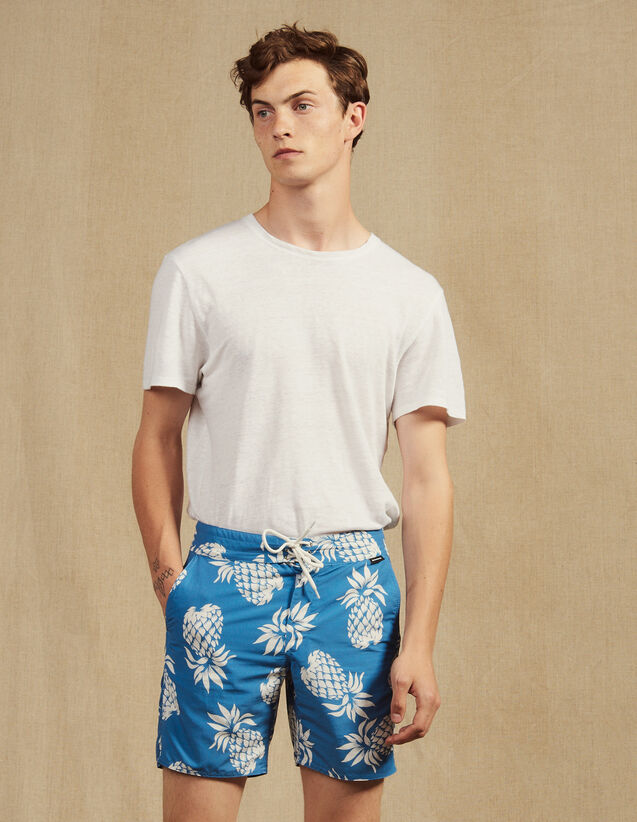 Printed Swim Shorts : Pants & Shorts color Black