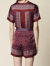 Printed Playsuit : Jumpsuits color Bordeaux