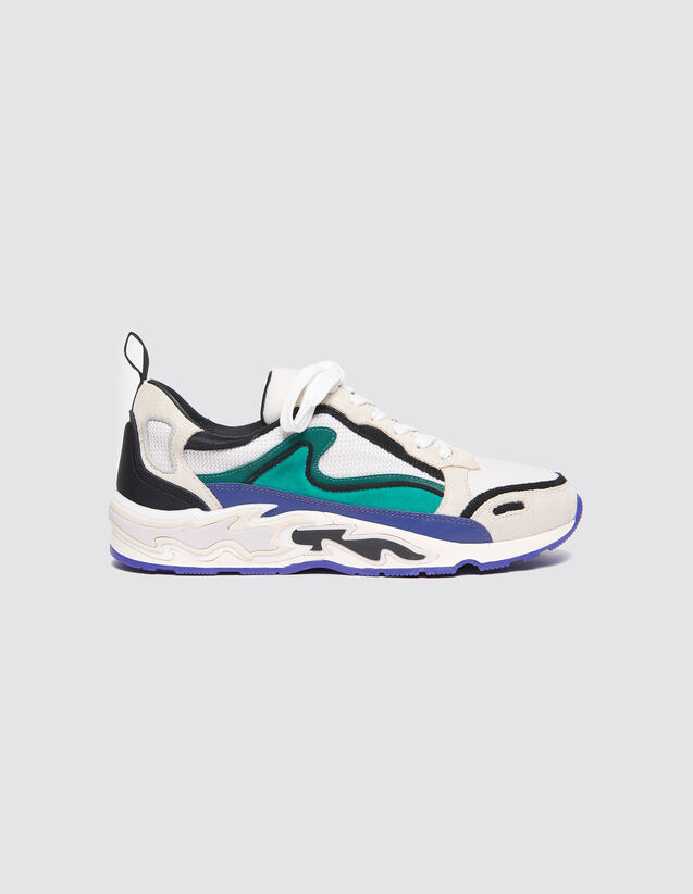 Sneakers With Flames On The Sole : Shoes color Purple