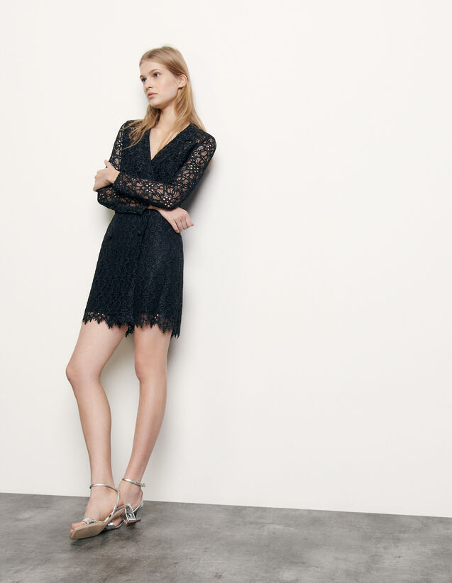 Lace dress : Spring Pre-Collection color Navy Blue