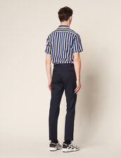 Fitted Chinos : Pants & Jeans color Navy Blue