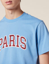 T-Shirt With Patch Lettering : T-shirts & Polos color Sky Blue