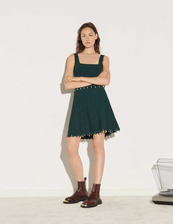 Sandro Knitted skirt with tassels