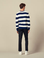 Sweater with large stripes : Sweaters & Cardigans color Off white/Rust