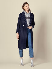 Long Double Faced Coat : Coats color Navy Blue