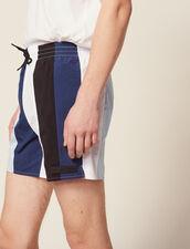 Multi-Colored Striped Swim Shorts : Pants & Jeans color Blue