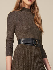 Double Loop Leather Belt : Belts color Black