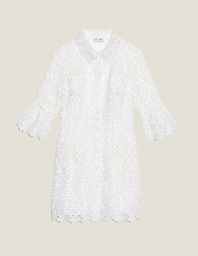 Guipure Coat Dress : Dresses color Ecru