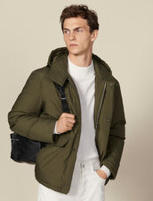 Cotton goose down padded jacket : Coats color Olive Green