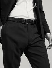 Saffiano leather belt : Essentials color Black