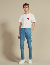 Smart Drawstring Waist Pants : Pants & Jeans color Steel blue